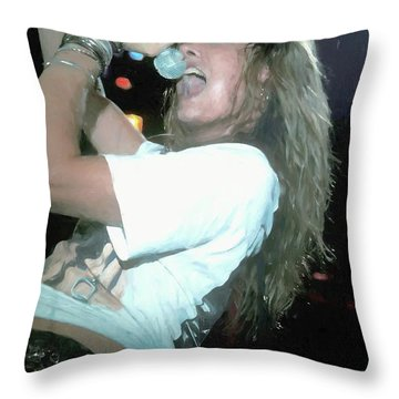 Skid Row Sebastian Bach Painti Throw Pillow