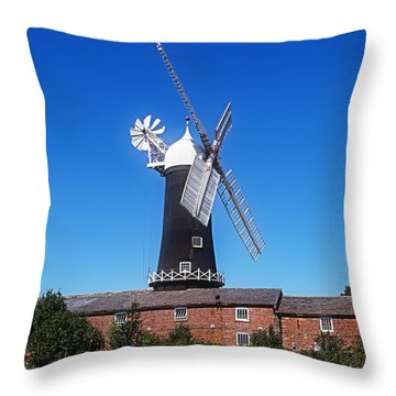 Skidby Mill East Yorkshire England Throw Pillow