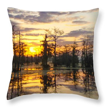 Skies Across The North End Throw Pillow