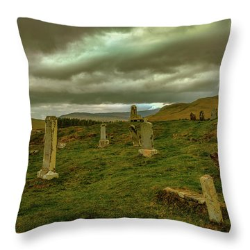 Skies And Headstones #g9 Throw Pillow