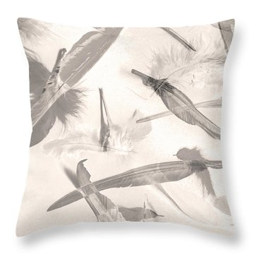 Skies Of A Feather Throw Pillow