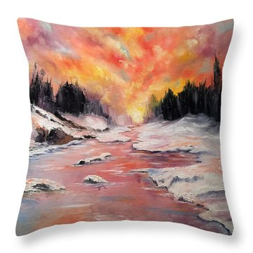 Skies Of Mercy Throw Pillow