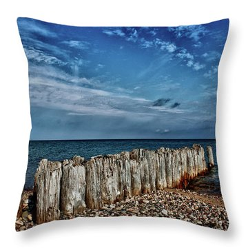 Throw Pillow featuring the photograph Skies Of Superior by Rachel Cohen