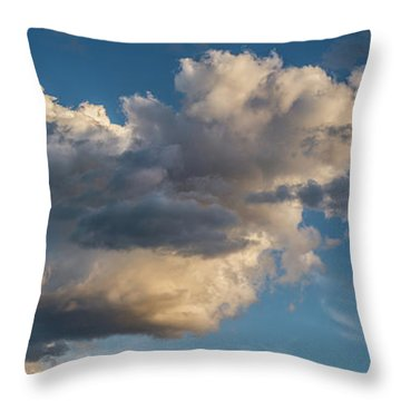 Skies Over Ghost Ranch New Mexico Throw Pillow