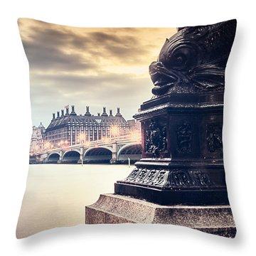 Skies Over London Throw Pillow