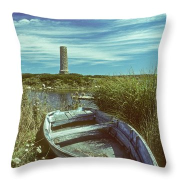 Skiff At Westend Pond Throw Pillow