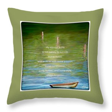 Skiff Boat Quote Throw Pillow