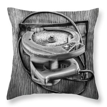 Skilsaw Side Throw Pillow