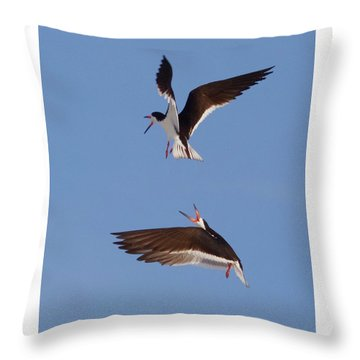 Skimmers In Flight Throw Pillow
