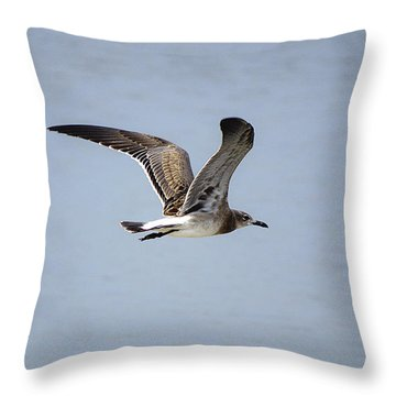 Skimming Seagull Throw Pillow