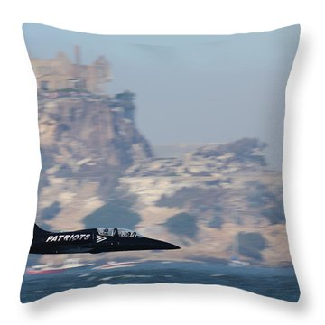 Skimming The Bay Throw Pillow