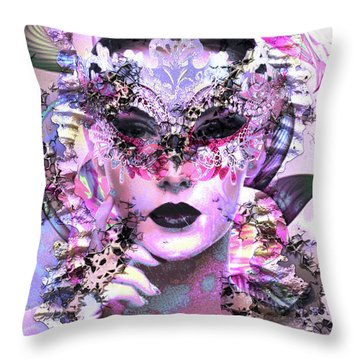 Skin Deep Throw Pillow by Kathy Kelly