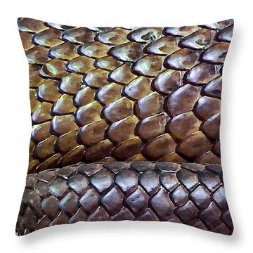 Throw Pillow featuring the photograph Skin Of Inland Taipan by Miroslava Jurcik