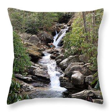 Skinny Dip Falls Throw Pillow