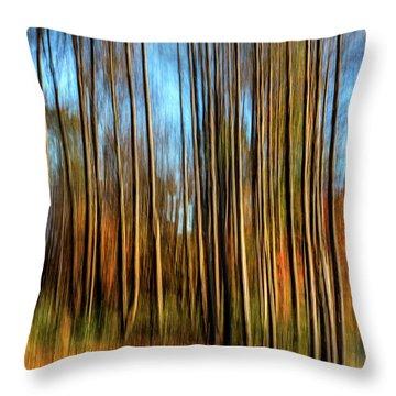Skinny Forest Swipe Throw Pillow