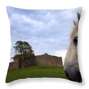 Skipness Castle Throw Pillow