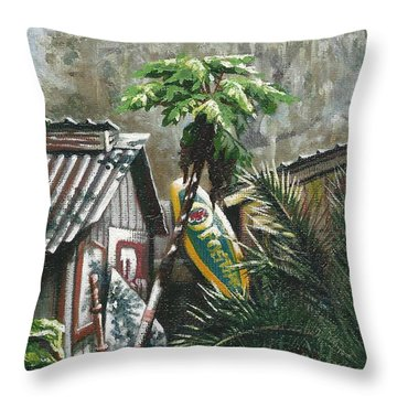 Skippers Smokehouse At Daylight Throw Pillow