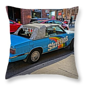 Skittles Car Throw Pillow