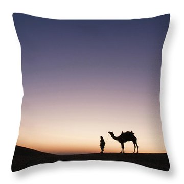 Skn 0860 Dawn At The Dunes Throw Pillow by Sunil Kapadia