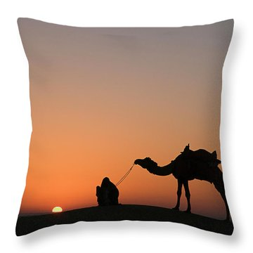 Skn 0870 Silhouette At Sunrise Throw Pillow