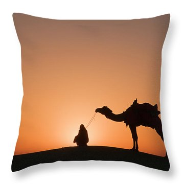 Skn 0893 The Halo Of Sunrise Throw Pillow by Sunil Kapadia