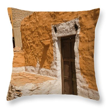 Skn 1264 The Thatched House Throw Pillow by Sunil Kapadia