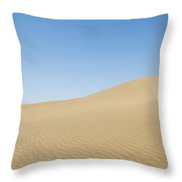 Skn 1412 The Ripples On The Slope Throw Pillow by Sunil Kapadia