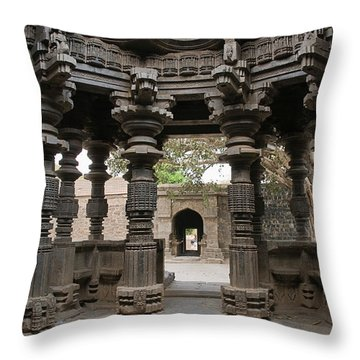 Skn 1960 Pillared Interior Throw Pillow