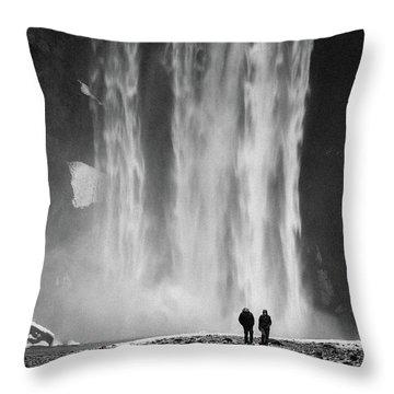 Skogafoss Throw Pillow