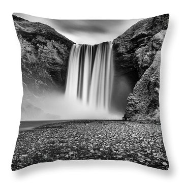 Throw Pillow featuring the photograph Skogafoss by James Billings