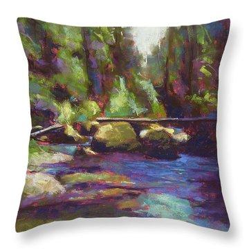 Skokomish River Throw Pillow by Mary McInnis
