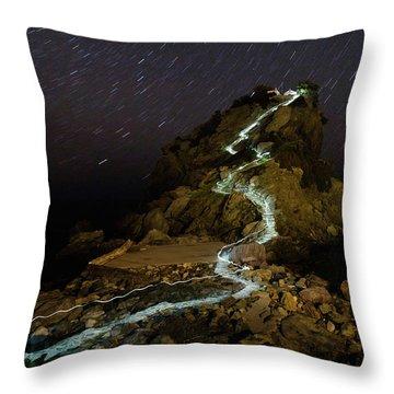 Skopelos Throw Pillow by Evgeni Dinev