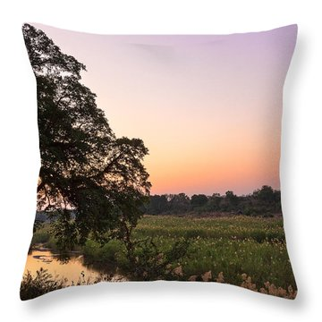 Skukuza Twilight Throw Pillow