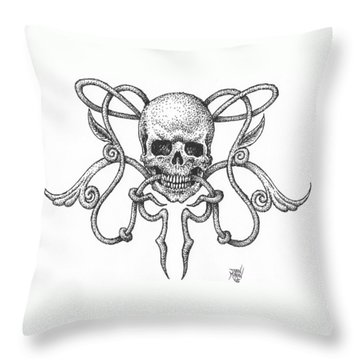 Skull Design Throw Pillow