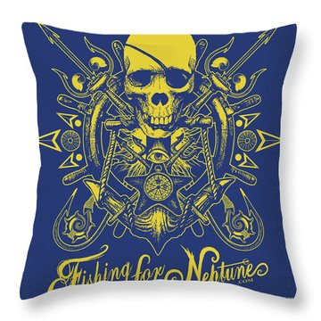 Skull F4n Throw Pillow by Tony Koehl