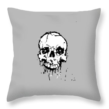 Skull Throw Pillow by H James Hoff