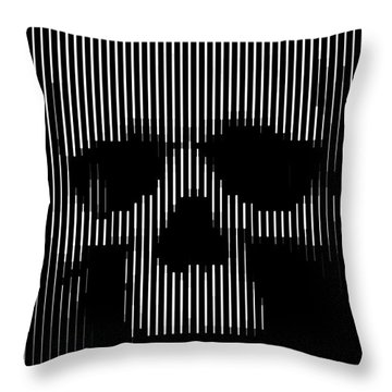 Skull Lines Throw Pillow