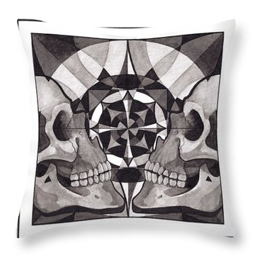 Skull Mandala Series Nr 1 Throw Pillow