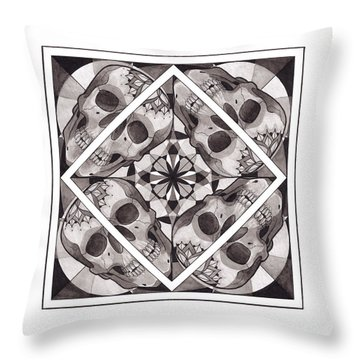 Skull Mandala Series Number Two Throw Pillow