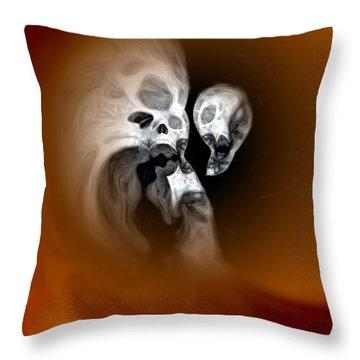 Skull Scope 2 Throw Pillow