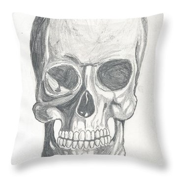 Skull Study 2 Throw Pillow