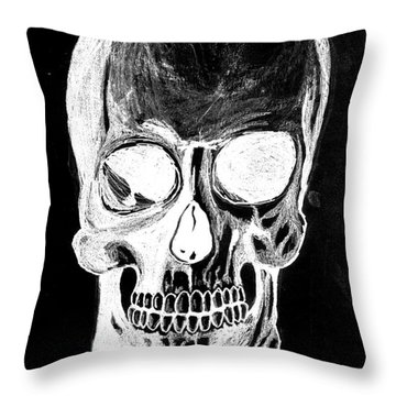 Skull Study 3 Throw Pillow