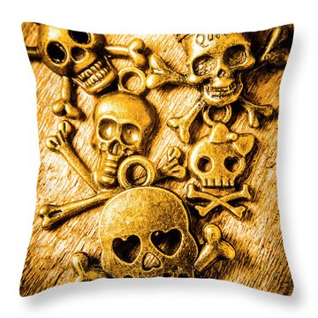 Throw Pillow featuring the photograph Skulls And Crossbones by Jorgo Photography - Wall Art Gallery
