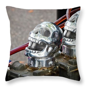 Throw Pillow featuring the photograph Skully by Chris Dutton