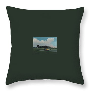 Skunky Throw Pillow by Blue Sky