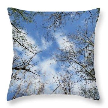 Sky Above Throw Pillow