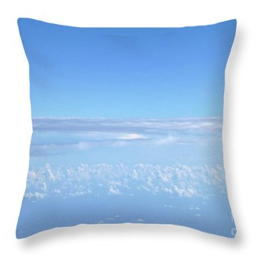 Throw Pillow featuring the photograph sky and clouds M1 by Francesca Mackenney