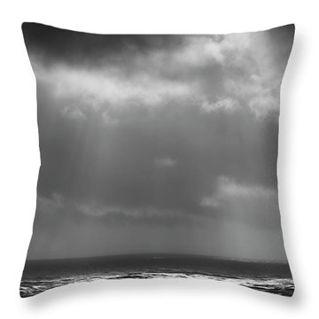 Throw Pillow featuring the photograph Sky And Ocean by Ryan Manuel