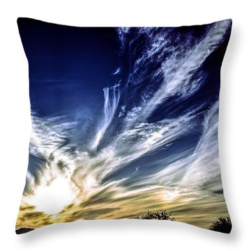 Sky Artistry Over Chandler Arizona Throw Pillow