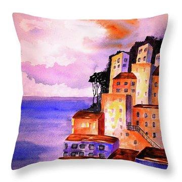 Sky At Dusk  Throw Pillow by Carlin Blahnik